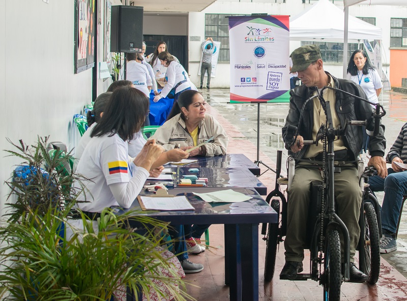 En esta jornada se realizó la caracterización de las personas con discapacidad.